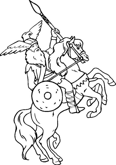 printable pictures vikings free coloring pages of viking gods