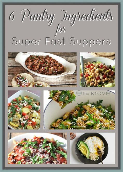Ingredients Pantry by 6 Pantry Ingredients For Fast Suppers The Krave