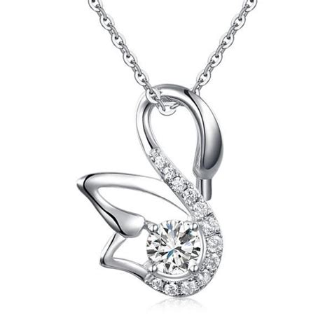 925 Sterling Silver Swan Necklace 23 best 925 silver necklaces images on 925