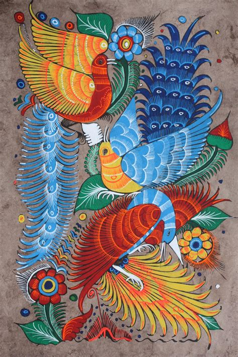 Crab Decorations For Home mexican painting of birds amp flowers latin folk art craft