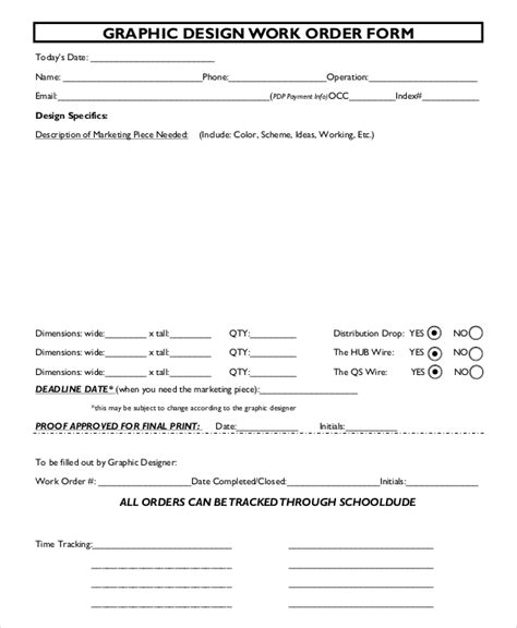 sle work order form template graphic design forms order form graphic design