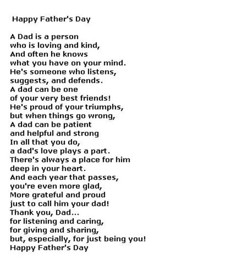 free fathers day poems fathers day poems and quotes quotesgram
