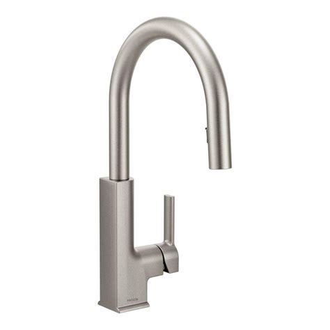 moen kitchen faucet moen sto single handle pull sprayer kitchen faucet with reflex in spot resist stainless