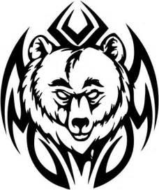 tribal bear drawings clipart best