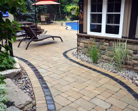 laying a patio how to lay patio stones our homes magazine