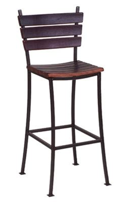 Stave Stool by Wine Stave Back Bar Stool