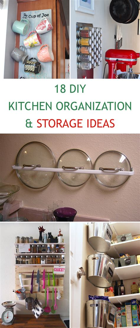 Diy Ideas For Kitchen 18 Diy Kitchen Organization And Storage Ideas