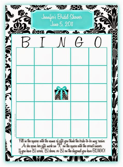 bridal shower bingo template memorable wedding bridal shower 5 ideas for