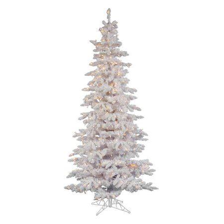 8 ft flocked slim christmas tree 10 ft flocked white slim pre lit clear tree walmart