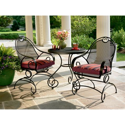 sears wrought iron patio furniture country living 3 bistro set enjoy your outdoors