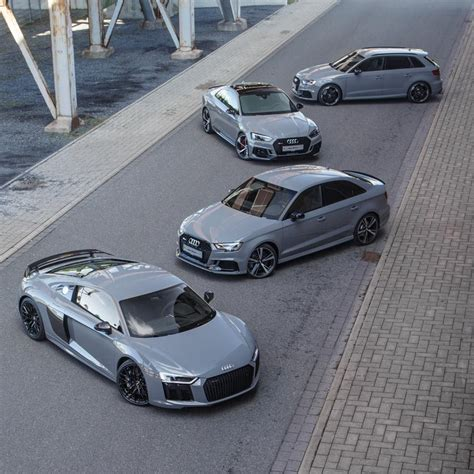 nardo grey rs3 nardo grey family photo audi r8 rs3 sedan rs5 and rs3
