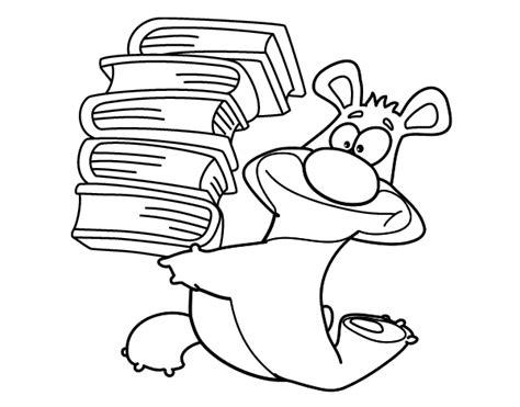 libros para colorear online dibujo de oso con libros para colorear dibujos net