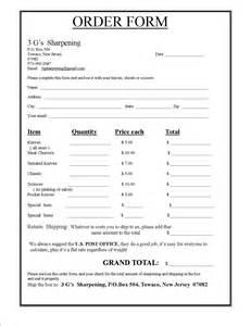 knife sharpening service order form
