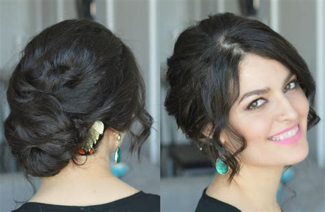 hairstyles buns for party wavy low bun party hairstyle wedding hairstyle youtube