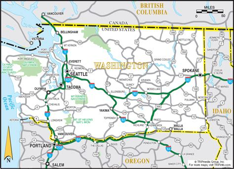 wa map washington map tri cities