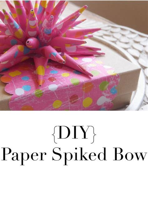 How To Make A Paper Spike - diy tutorial paper spiked bow your craft