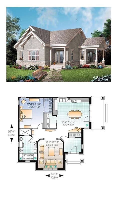 cottage plans bungalow country craftsman house plan 65524