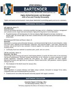 resume for bartender position descriptions exles of personification bartender resume three templates wnonikj apptemplate org