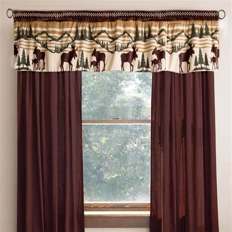 rustic curtains cabin window treatments cabin bear drapes cabin place