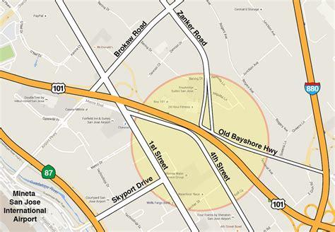 san jose airport noise map map of 101 zanker road interchange project