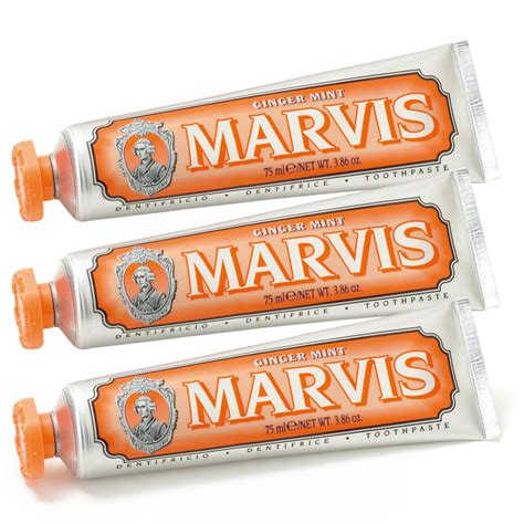 Pindy Mint Pack Of 3 marvis mint toothpaste pack 3 x 75ml health thehut