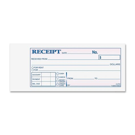 adams carbonless receipt book ld products