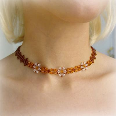 topaz choker jewellery made from cc007