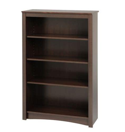 prepac espresso 4 shelf bookcase walmart ca