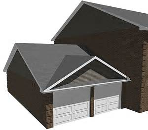 False Roof House Plans Gallery For Gt Double Gable Roof Design