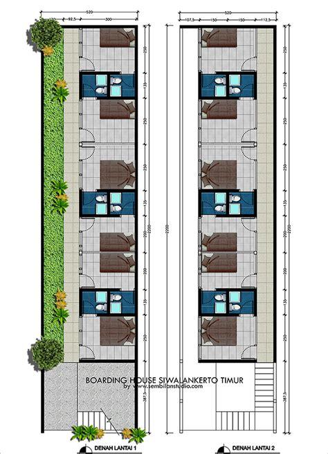Rumah Bangunan Kos Kosan 10 Kamar denah new desain rumah empat kamar satu lantai