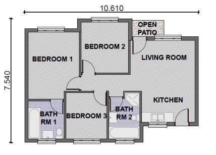 south african 3 bedroom house plans house plans south africa 3 bedroomed house plan 2017