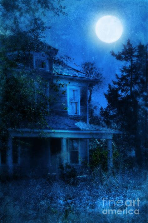 What House Is The Moon In by Haunted House Moon Photograph By Battaglia