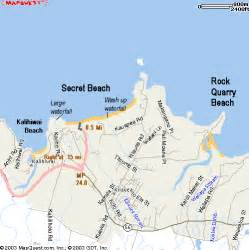beaches map secret near princeville kauai
