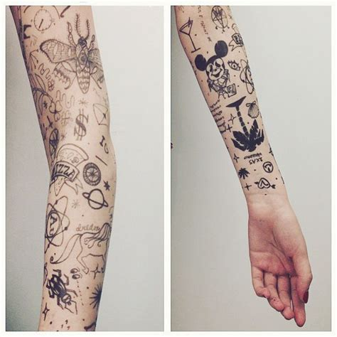 random sleeve tattoo designs mickey mouse ear tattoos studio design gallery