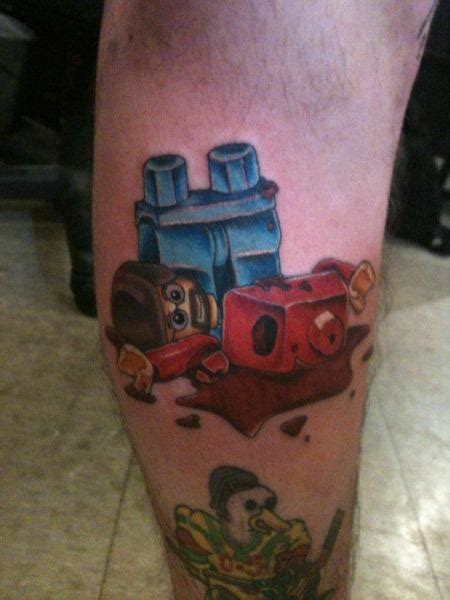 lucky draw tattoo calf lego by lucky draw tattoos