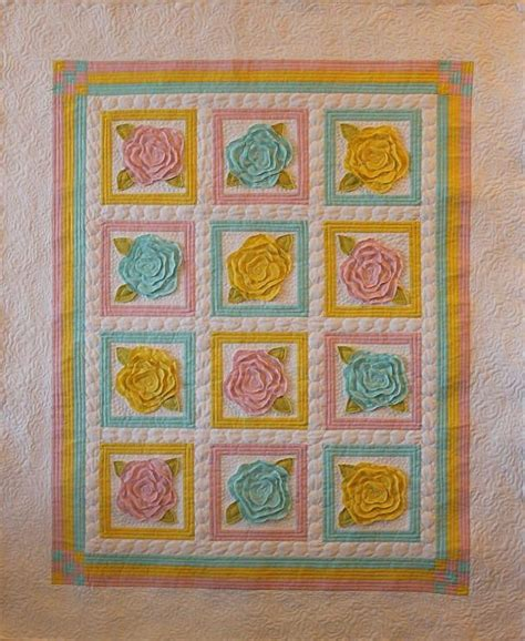 Roses Quilt Pattern by You To See Baby Roses Quilting By Christaquilts