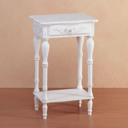 white distressed end tables distressed white wood carved side table traditional