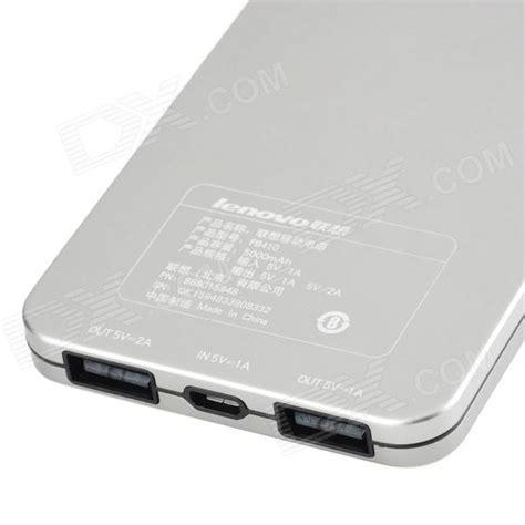 Power Bank Lenovo 5000mah lenovo pb410 5000mah dual usb portable li polymer power source bank for iphone more silver