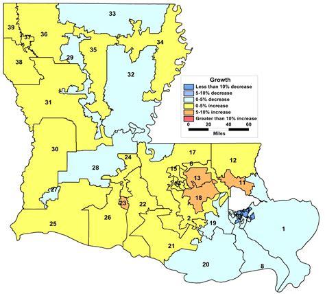louisiana map change demographic changes to louisiana legislative districts