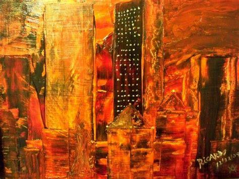 ciudad en llamas 8439731167 obra de arte ciudad en llamas por ricardo artistas y arte artistas de la tierra