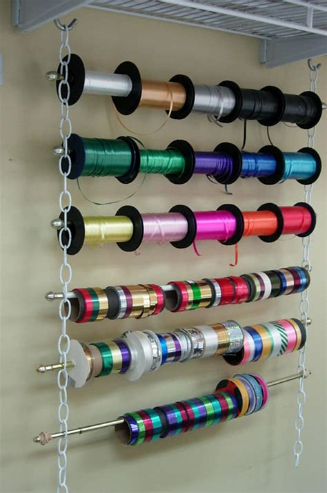 Ribbon Spool Rack by How To Make An Easy Hanging Ribbon Organizer In Own Style