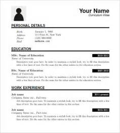Resume Downloadable Templates by 15 Resume Templates Free Sles Exles