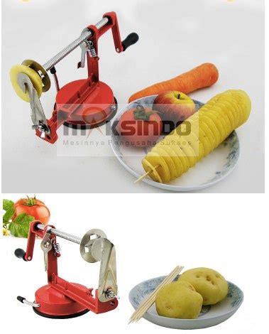 Gratis Ongkir Mesin Pengupas Sayuran Spiral Spiral Vegetable Slicer jual alat pengiris kentang spiral mks pss44 di surabaya toko mesin maksindo surabaya toko