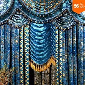 Peacock Color Curtains The Blind Fashion Living Room Curtain Peacock Blue Flannelet Bronzier Curtain The Finished