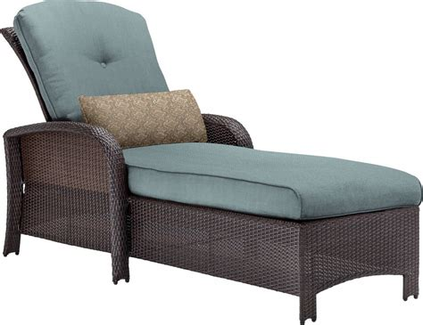 Chaise Lounge Chair Outdoor by Hanover Strathmere Wicker Outdoor Chaise Lounge Chair