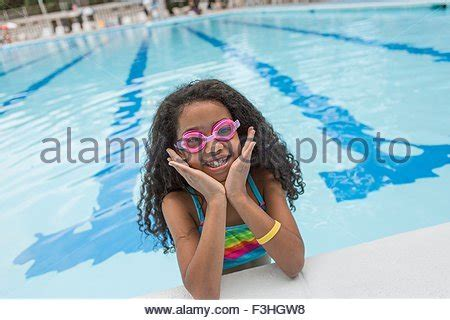 girl wearing goggles stock photo, royalty free image