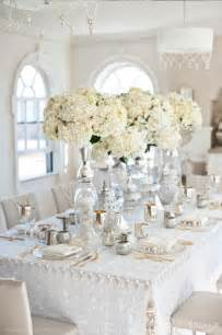 White Table Settings Silver And White Creates The Modern Wedding Theme