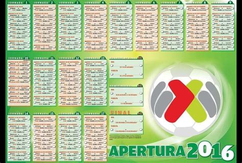search results for calendario apertura 2016 futbol