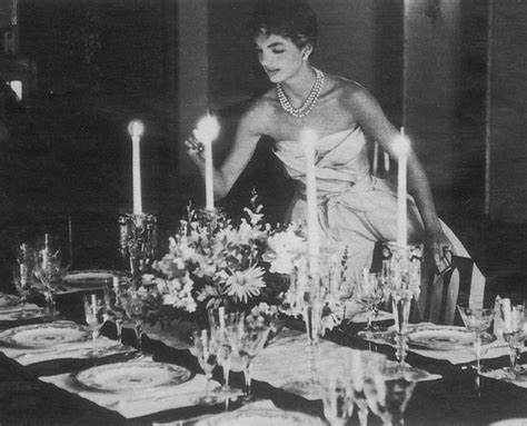 bouvier kennedy jackie jacqueline bouvier kennedy lighting candle dinner 3