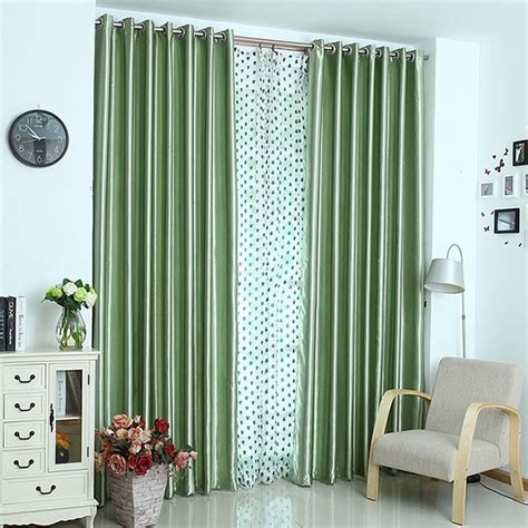 light green blackout curtains thermal light insulation full blackout curtain lining